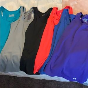 6 Small Under Armor Tank Tops